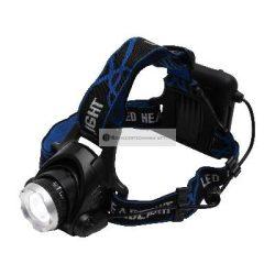 LED-es fém fejlámpa zoom 800 lumen