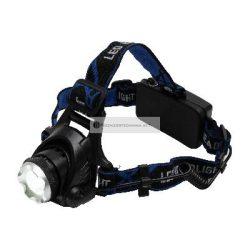LED-es tölthető fém fejlámpa zoom 1000 lumen