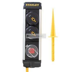 STANLEY 2-es elosztó kapcsolóval leszúrható IP44 5m kábel H07RNF 3G1 5